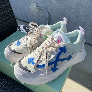 OFF-WHITE    White Blue Odsy - 1000  Sneakers